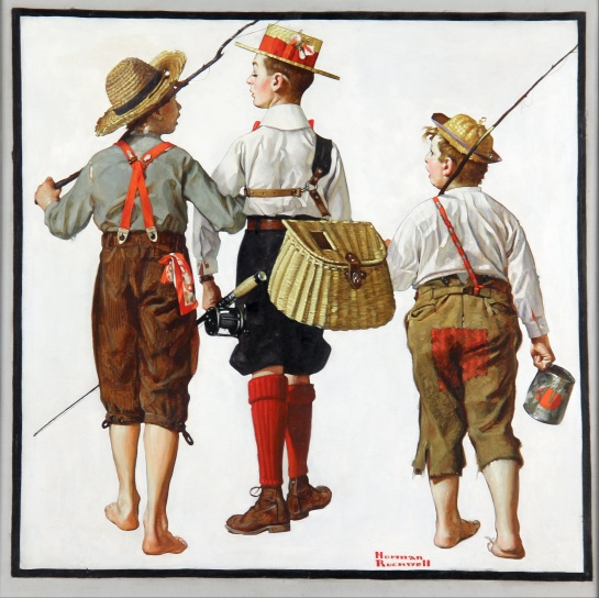The Fishing Trip - Norman Rockwell, 1919